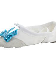 Kids' Ballet Fabric Flats Indoor Bow(s) Flat Heel Blushing Pink Red Beige Black White