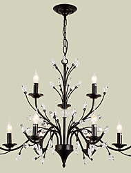 LightMyself 9 Lights Crystal Chandelier Modern/Contemporary Traditional/Classic Tiffany Vintage Retro Country Painting Feature for Living Room