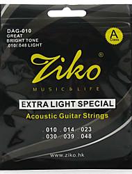Ziko Acoustic Guitar Strings Light DAG010 Brass Steel Strings For Guitar Acoustic Strings Set guitar strings