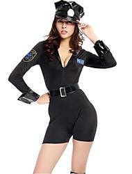 Costumes de Cosplay Policier/Policière Fête / Célébration Déguisement d'Halloween ModeCollant/Combinaison Ceinture de Tour de Taille