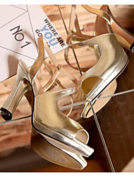 Damen High Heels Komfort Pumps Echtes Leder Sommer Normal Komfort Pumps Gold Silber 2,5 - 4,5 cm