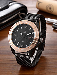 SANEESI Men's Fashion Watch Wristwatch Luxucy Elgant Unique Creative Cool Watch Quartz Big Dial Calendar Business Classic Alloy Band Watches
