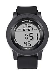Муж. Спортивные часы Армейские часы Смарт-часы Модные часы Наручные часы Цифровой LED Календарь Фитнес-трекеры Хронометр Фосфоресцирующий