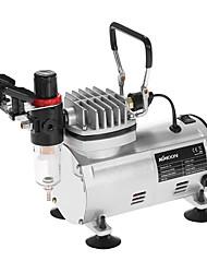 Kkmoon novo kit de aerógrafo profissional 3 com compressor de ar de ação dupla hobby spray escova de ar set tatuagem unha tinta pintura