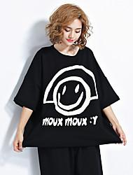 T-shirt Da donna Casual SempliceCon stampe Rotonda Cotone Maniche a ¾
