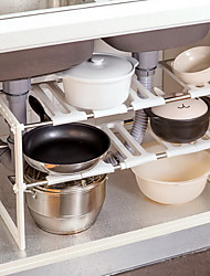 Home Stainless Steel Sink Lower Multi-storey Telescopic Shelf Floor Storage Shelf