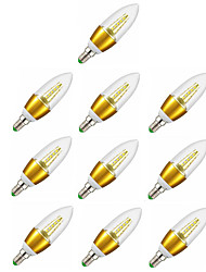 10pcs 6W E14 LED Candle Lights C35 600-650LM Starry Sky Candelabra Bulb 35SMD 2835 Warm White AC220-240V