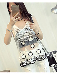 Women's Going out Sexy Blouse,Solid V Neck Sleeveless Others