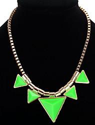 Mujer Collares con colgantes Collares de cadena Joyas Forma de Estrella Forma de Triángulo Resina LegierungDiseño Básico Diseño Único