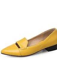 Women's Loafers & Slip-Ons Customized Materials Spring Summer Walking Split Joint Flat Heel Low Heel Chunky Heel Kitten HeelWhite Black