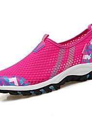 Для женщин На плокой подошве Тюль Лето Для прогулок Комбинация материалов На плоской подошве Пурпурный Светло-серый Синий+Розовый4,5 - 7