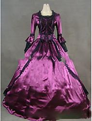 One-Piece/Dress Gothic Lolita Lolita Cosplay Lolita Dress Vintage Cap Long Sleeve Floor-length Dress For
