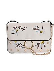 Women Shoulder Bag PU All Seasons Formal Casual Wedding Outdoor Office & Career Professioanl Use Envelope Magnetic Black White