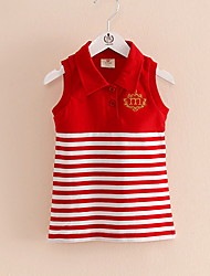 Stripes Children's Princess Dress Children's Wear Clothes Summer 2017 Girls Baby Sleeveless Vest Dress Skirt
