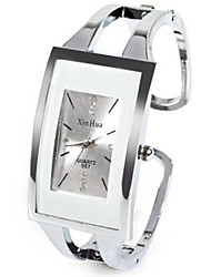 XinHua Quartz Watch with Diamond Dots and Strips Indicate Steel Watch Band for Women