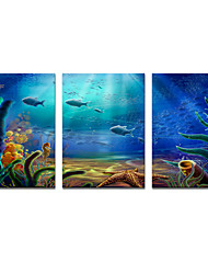 Stretched Canvas Print Ocean Picture Swimming Fishes Printed on Canvas Modern Art for Wall Decoration