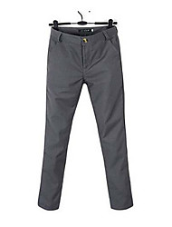 Men's Mid Rise strenchy Business Pants,Street chic Straight Solid