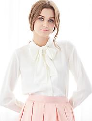 Women's Casual Sexy Shirt,Print Shirt Collar Long Sleeve Chiffon