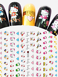 1pcs Fashion Lovely Style Design Nail Art Cartoon 3D Stickers Cute Hello Kitty Heart Shape DIY Beauty Creative Decoration F098