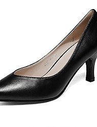 Women's Heels Formal Shoes Comfort Leatherette Spring Fall Casual Formal Shoes Comfort Chunky Heel Black White 5in & over
