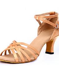 Maßfertigung Damen Latin PU Sandalen Absätze Innen Verschlussschnalle Niedriger Heel Schwarz Knackmandel Blau 5 - 6,8 cm