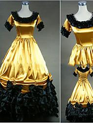 One-Piece/Dress Gothic Lolita Lolita Cosplay Lolita Dress Vintage Cap Short Sleeve Floor-length Dress For