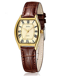 Women's Fashion Watch Japanese Quartz Water Resistant / Water Proof Leather Band Casual Black Brown