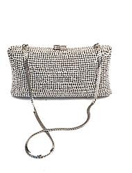 Women Silver Stylish Rhinstone Clutches Evening Bags