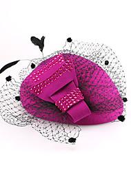 Lã Capacete-Casamento Ocasião Especial Casual Escritório e Carreira Chapéus 1 Peça