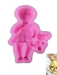 Little Girl Pattern  Candy Fondant Cake Molds  For The Kitchen Baking Molds