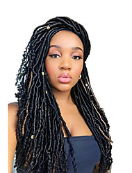 1 pack Faux Locs with curly end Crochet Braids kanekalon Hair Extensions African Braiding Kanekalon Soft Dread Locs 24 roots/pack 5pack for a head