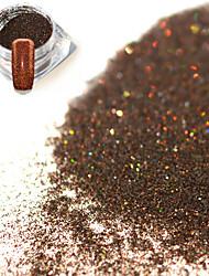 0.2g/bottle Fashion Dark Brown Shining Pigment Decoration Nail Art Glitter Holographic Fine Powder DIY Charm Shining Design JX14