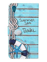 Для sony xperia x xa чехол для крышки Life buoy pattern pu кожаные чехлы для xperia m4 aqua
