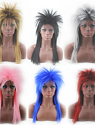 Europe and the United States Black Holiday Wig Multi-Color Kill Matt Cos-Type Explosion head color wig head cover 20inch