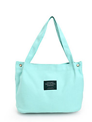 Women Shoulder Bag Canvas All Seasons Casual Shopper Magnetic Light Green