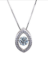 Pure Silver Is Studded With A Dancing Drop Necklace