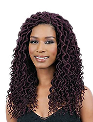 1 Pack 350#Havana Mambo Wavy Faux Locs Braids Hair Extensions Kanekalon Hair Braids 100g