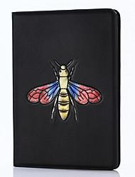 Para ipad 2017 9.7inch casos genuínos de luxo cobrem o titular do cartão com suporte flip embossed pattern 3d cartoon bees para ipad air 2