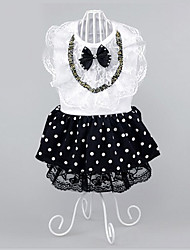Dog Dress Dog Clothes Party Casual/Daily Polka Dots