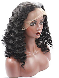 Deep Wave Natural Black Color Hair Wig High Quality Synthetic Lace Front Wigs