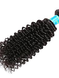 Cabelo Humano Ondulado Cabelo Brasileiro Kinky Curly 12 meses 1 Peça tece cabelo