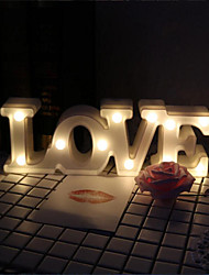 LED Shape Of Romantic LOVE LOVE Wedding Wedding Do Propose Adornment Small Night Light Valentine's Day Gif