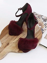 Women's Heels Basic Pump Comfort Other Animal Skin Spring Summer Casual Basic Pump Comfort Burgundy Black 2in-2 3/4in