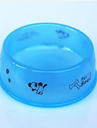 Gato Cachorro Tigelas e Bebedouros Comedouro Animais de Estimação Tigelas e alimentação de animais Prova-de-Água Portátil Laranja Azul