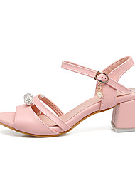 Women's Sandals Comfort Ankle Strap Light Soles Real Leather Summer Casual Office & Career Dress Comfort Ankle Strap Light SolesSparkling