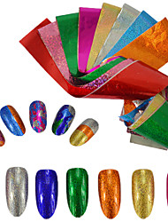 9colors/set Nail Art 3D Sticker Starry Effect Nail Glitter Foil Sticker Nail Art Transfer Glue Foil Decals Nail Besuty Glitter Decoration
