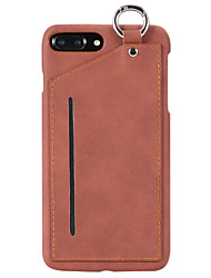 Pour apple iphone 7 7 plus 6s 6 plus casque pc matériel pu coller la peau après la carte avec pendentif téléphone téléphone