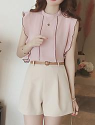 Chemisier Pantalon Costumes Femme,Couleur Pleine Anniversaire Soirée Quotidien Décontracté Vélo de Route PelousePantalons Inspiré de la
