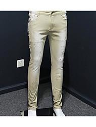 Herren Einfach Mittlere Hüfthöhe Hochelastisch Jeans Skinny Hose