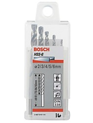 Bosch 5 Sets Of Professional Drilling Hss Series Of High-Speed Steel Twist Drill Metal Accessories Supplies 2607019114/5Pcs/Set
